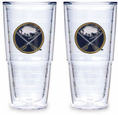 """Buffalo Sabres Set of TWO 24 oz. """"Big T"""" Tervis Tumblers"""