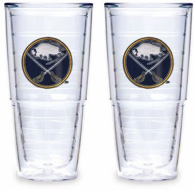 "Buffalo Sabres Set of TWO 24 oz. ""Big T"" Tervis Tumblers"