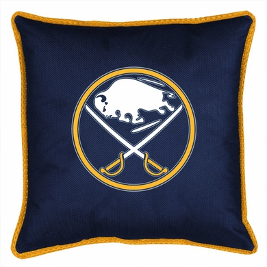 Buffalo Sabres SIDELINES Jersey Material Toss Pillow