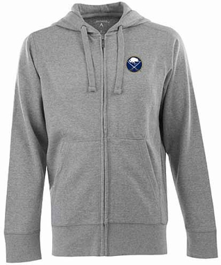 Buffalo Sabres Mens Signature Full Zip Hooded Sweatshirt (Color: Gray)