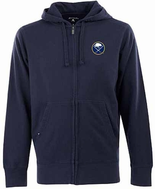 Buffalo Sabres Mens Signature Full Zip Hooded Sweatshirt (Color: Navy)