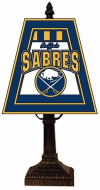 Buffalo Sabres Small Art Glass Lamp