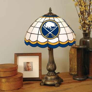 Buffalo Sabres Stained Glass Table Lamp