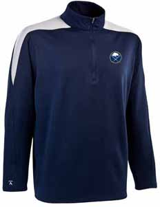 Buffalo Sabres Mens Succeed 1/4 Zip Performance Pullover (Team Color: Navy) - Large