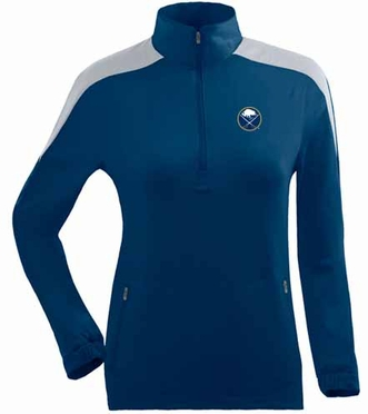 Buffalo Sabres Womens Succeed 1/4 Zip Performance Pullover (Team Color: Navy)
