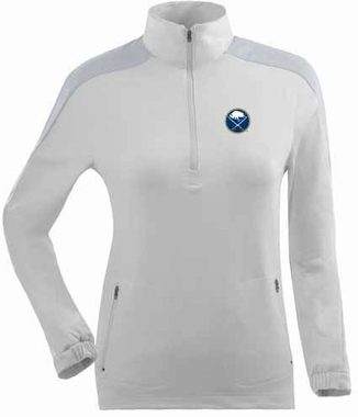 Buffalo Sabres Womens Succeed 1/4 Zip Performance Pullover (Color: White)