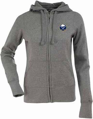 Buffalo Sabres Womens Zip Front Hoody Sweatshirt (Color: Gray)