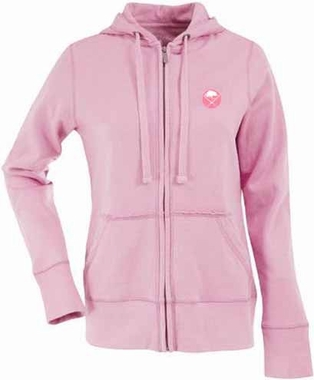 Buffalo Sabres Womens Zip Front Hoody Sweatshirt (Color: Pink)
