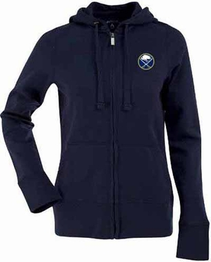 Buffalo Sabres Womens Zip Front Hoody Sweatshirt (Team Color: Navy)