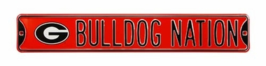 Bulldog Nation W Logo Street Sign