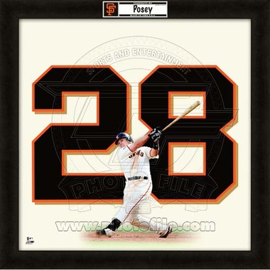 "Buster Posey, Giants UNIFRAME 20"" x 20"""