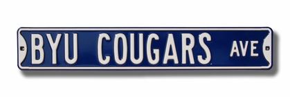 BYU Cougars Ave Street Sign