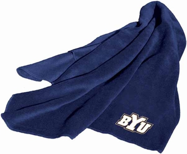 BYU Fleece Throw Blanket