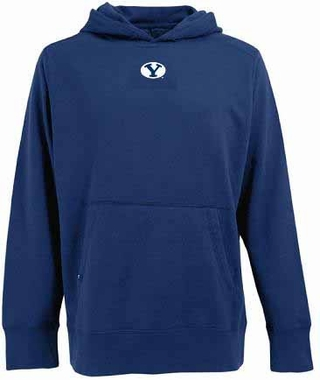 BYU Mens Signature Hooded Sweatshirt (Team Color: Navy)