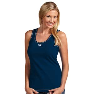BYU Womens Sport Tank Top (Team Color: Navy) - Medium