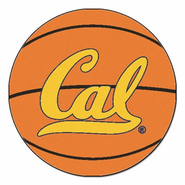 Cal Basketball Shaped Rug