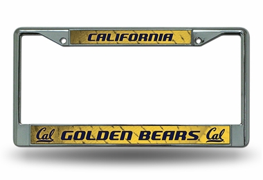 Cal Chrome License Plate Frame
