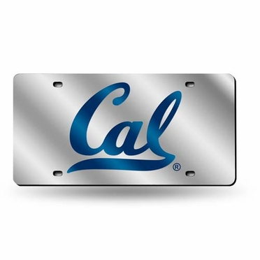 Cal Deluxe Mirrored Laser Cut License Plate