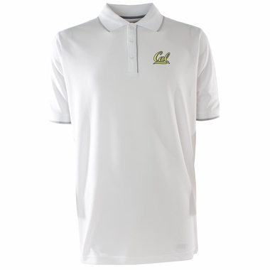 Cal Mens Elite Polo Shirt (Color: White)