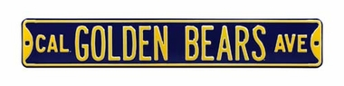 Cal Golden Bears Ave Street Sign