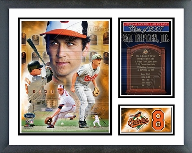 Cal Ripken Jr. Hall of Fame  Framed Milestones & Memories #76