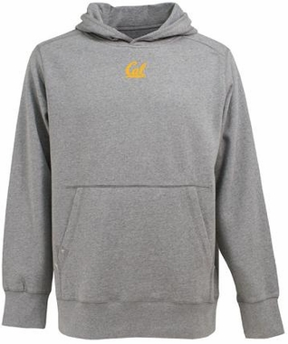 Cal Mens Signature Hooded Sweatshirt (Color: Gray)