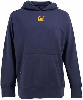 Cal Mens Signature Hooded Sweatshirt (Color: Navy)