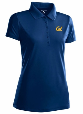 Cal Womens Pique Xtra Lite Polo Shirt (Color: Navy)