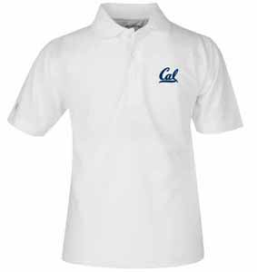 Cal YOUTH Unisex Pique Polo Shirt (Color: White) - Small