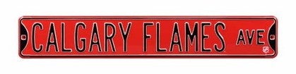 Calgary Flames Ave Street Sign