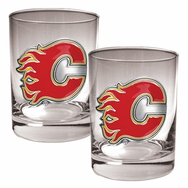 Calgary Flames Double Rocks Set