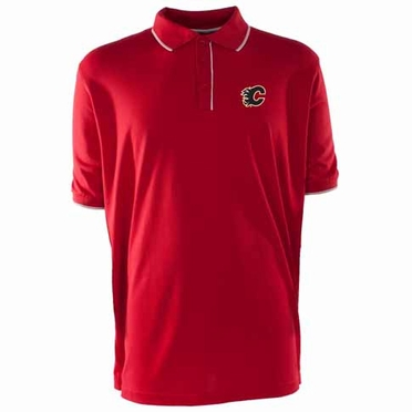 Calgary Flames Mens Elite Polo Shirt (Team Color: Red)