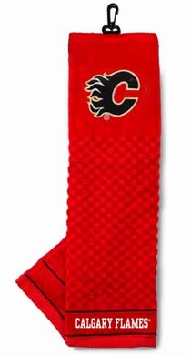 Calgary Flames  Embroidered Golf Towel