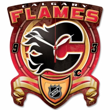 Calgary Flames High Definition Wall Clock