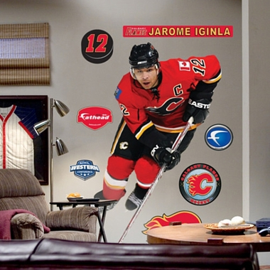 Calgary Flames Jarome Iginla Fathead Wall Graphic