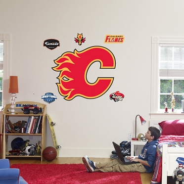 Calgary Flames Logo Fathead Wall Graphic