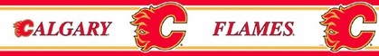 Calgary Flames Peel and Stick Wallpaper Border