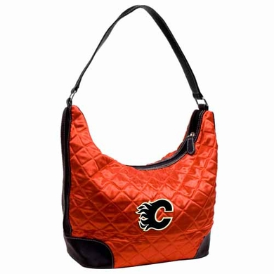 Calgary Flames Quilted Hobo Purse