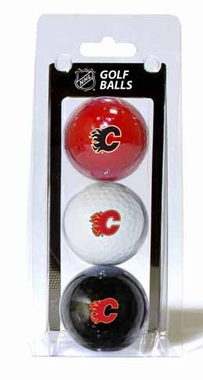 Calgary Flames Set of 3 Multicolor Golf Balls