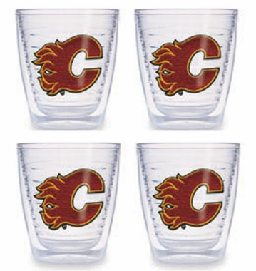 Calgary Flames Set of FOUR 12 oz. Tervis Tumblers