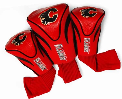 Calgary Flames Set of Three Contour Headcovers
