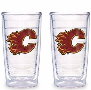 Calgary Flames Set of TWO 16 oz. Tervis Tumblers