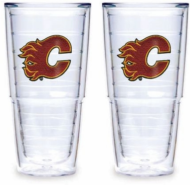 "Calgary Flames Set of TWO 24 oz. ""Big T"" Tervis Tumblers"