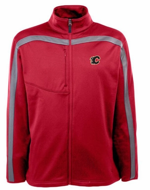 Calgary Flames Mens Viper Full Zip Performance Jacket (Team Color: Red)