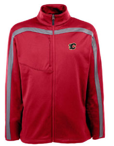 Calgary Flames Mens Viper Full Zip Performance Jacket (Team Color: Red) - Small