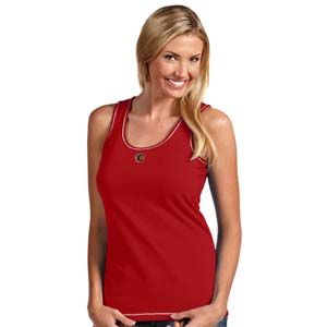 Calgary Flames Womens Sport Tank Top (Color: Red) - Small