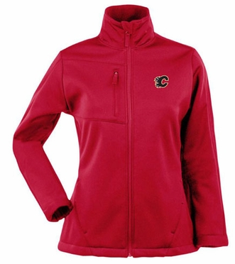 Calgary Flames Womens Traverse Jacket (Team Color: Red)