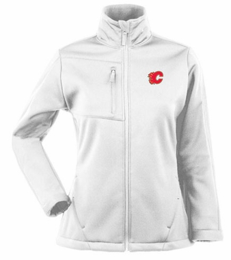 Calgary Flames Womens Traverse Jacket (Color: White)