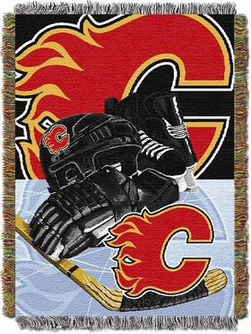 Calgary Flames Woven Tapestry Blanket