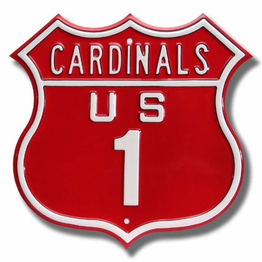 Cardinals / 1 Route Sign